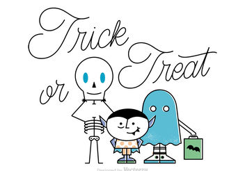 Free Vector Trick Or Treat Background - Free vector #199491