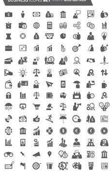 104 Flat Business Icon set - Free vector #199591