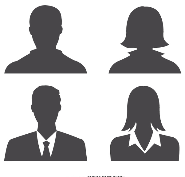 Avatars profile silhouette - vector #199601 gratis