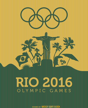 Rio 2016 Olympic games landscape - Free vector #199611