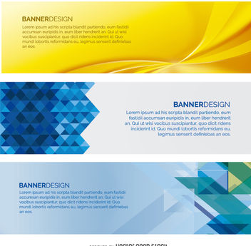 Web Banner set - vector gratuit #199681