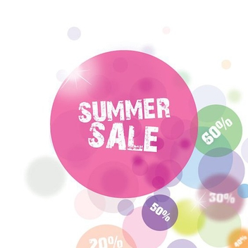 Summer Sale Bubbles Background - vector #199691 gratis