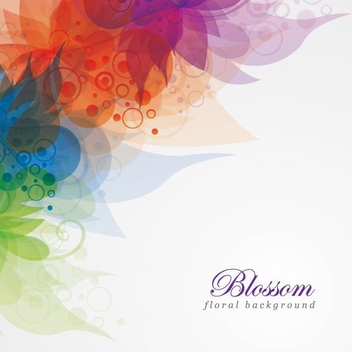 Colorful Flower Blossom Background - vector gratuit #199731