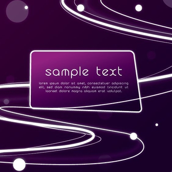 Solar System Purple Banner - Free vector #199781