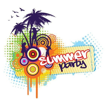 Summer Party Banner - Free vector #199831