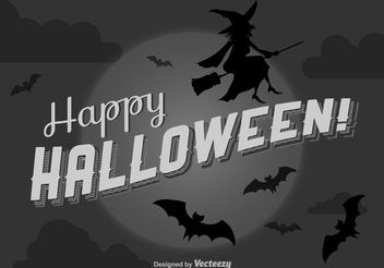 Happy Halloween Background - vector gratuit #199841