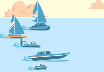 Water Racing Vector - Free vector #199871