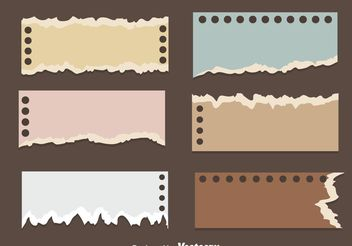 Ripped Note Paper Vectors - Free vector #199891