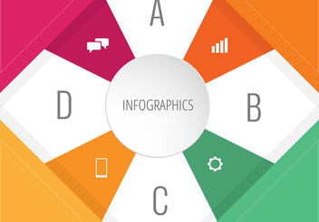 Colorful Infographic Design with Icons - Kostenloses vector #199931
