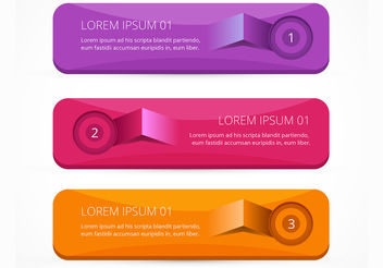 Lifted bright infographic banner vectors set - vector #199971 gratis