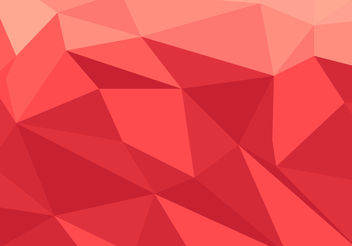 Red Low Poly Vector - vector gratuit #200001