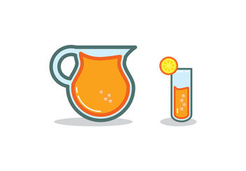 Fresh Lemonade Illustration - Free vector #200011