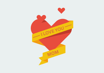 Love Mom Vectors - vector gratuit #200031