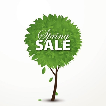 Spring Sale Concept Tree - Free vector #200071