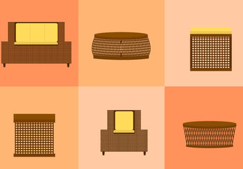 Wicker Furniture - vector gratuit #200121
