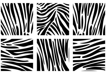 Zebra print background vectors - vector gratuit #200361