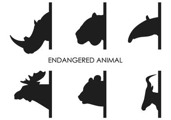Vector Endangered Animals - Free vector #200391