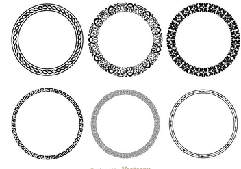 Circle Fancy Line Decoration - Free vector #200591