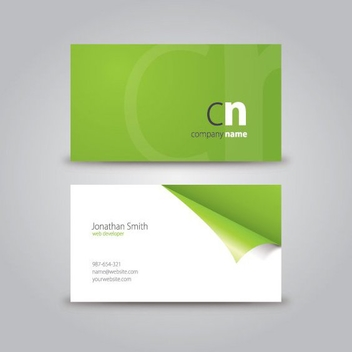 Double Side Curled Business Card - Free vector #200641