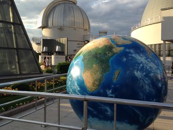 Big globe near Moscow Planetarium - image #200691 gratis