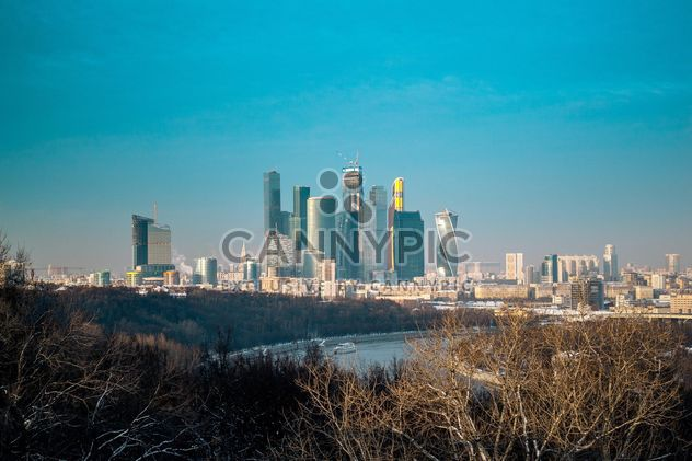 Moscow cityscape under blue sky - Free image #200741