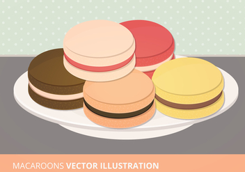 Macaroons Vector Collection - бесплатный vector #200841