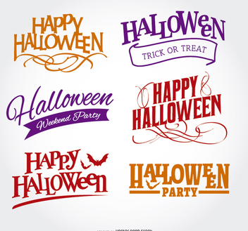 Happy Halloween embelm Set - Kostenloses vector #200911