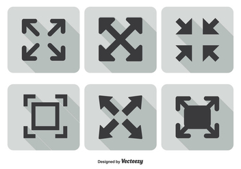 Full Screen Icon Set - vector #201221 gratis