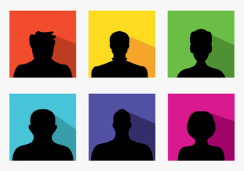 Set of colorful default avatars - Free vector #201331