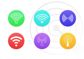Wifi Symbols Vector Icons Free Pack - Free vector #201341