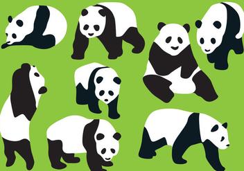 Panda Bear Silhouette Vectors - vector #201351 gratis