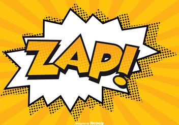Comic ZAP! Illustration - Free vector #201361