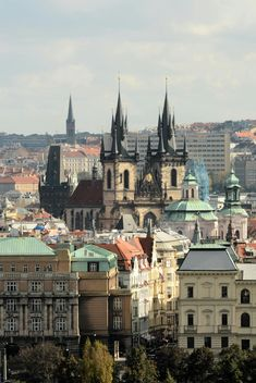 view of the Tyn Church in Prague - бесплатный image #201481