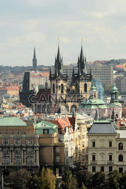view of the Tyn Church in Prague - Free image #201481