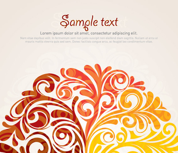 Stylish Waves Swirls Background - vector #201561 gratis