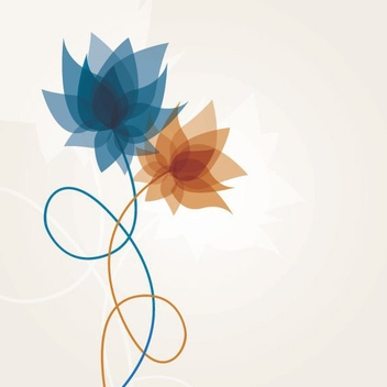 Abstract Spiral Flower Plants - vector gratuit #201581