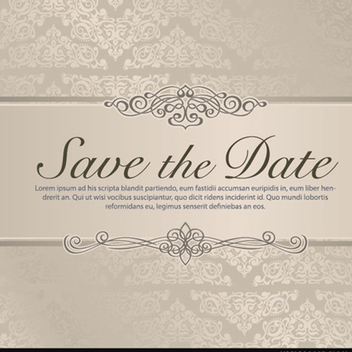 Wedding Save the Date Vector - бесплатный vector #201861