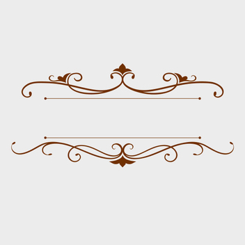 Decorative Text Label Vector - Free vector #201971