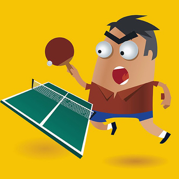 Ping Pong Vector Character - vector gratuit #202021