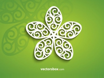 Decorative Flower Vector - vector gratuit(e) #202071