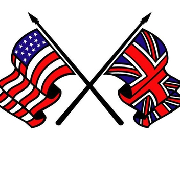 Free Vector Flags - USA and Britain - vector gratuit #202201