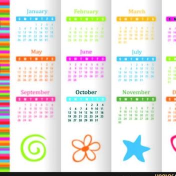 Free Vector 2014 Calendar - Kostenloses vector #202361