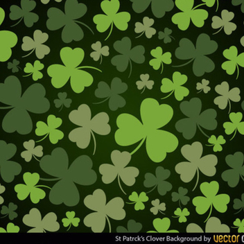 St Patrick's Clover Vector Background - vector gratuit #202431