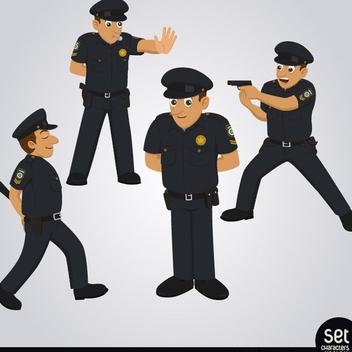 Free Vector Policeman Character Set - Kostenloses vector #202441
