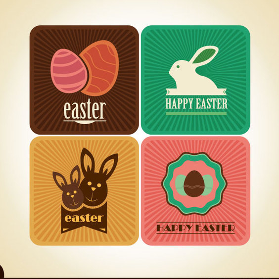 Free Easter Vector Card Designs - Kostenloses vector #202531