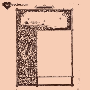 Free Antique Frame Vector 6 - Free vector #202571