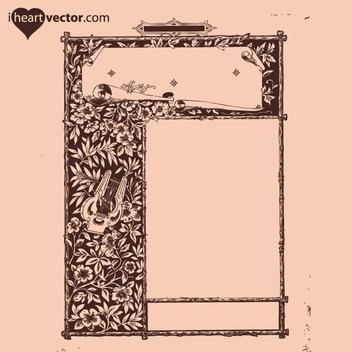 Free Antique Frame Vector 6 - Kostenloses vector #202571