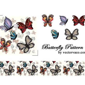 Free Vector Butterfly Pattern - Free vector #202621