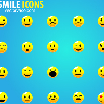 Free Vector Smile Icons - vector gratuit #202641