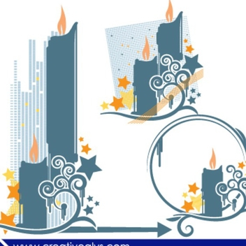 Abstract Vector Candles - vector #202701 gratis
